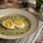 Zupa szczawiowa na kefirze – kuchnia podkarpacka