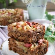 Cytrynowe ciasto wege z rabarbarem- nowy post na słodkich sio-smutkach