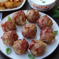 Mięsne muffinki z suszonymi pomidorami i mozzarellą