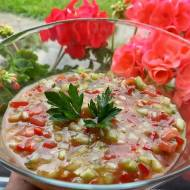 Ostry sos z ogórka i pomidora