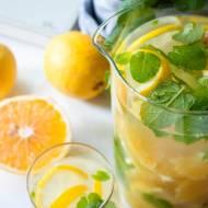 Lemoniada z pomarańczą, cytryną i miętą