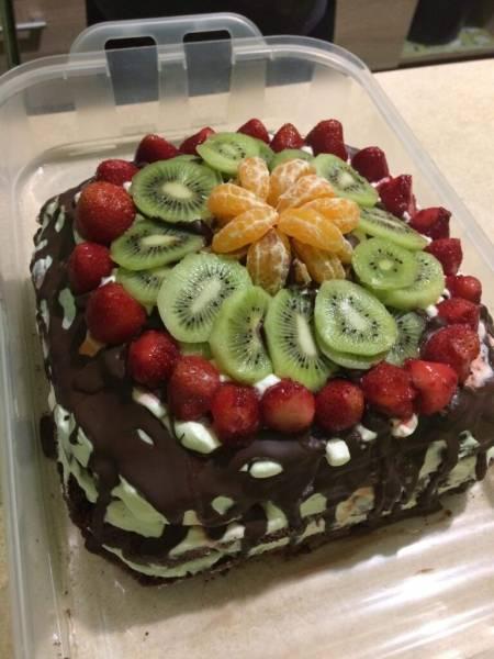 Owocowe ciasto