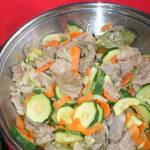 Schab i polędwica z dzika w warzywach