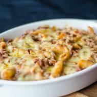 Zapiekanka makaronowa z serem i mięsem mielonym