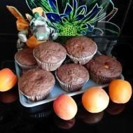 Kakaowe muffinki z morelową niespodzianką
