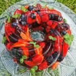 Galaretka z owocami – ciasto na upalne dni