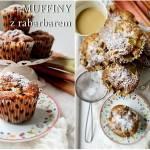 Muffiny z rabarbarem i cukrem pudrem