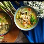 Zupa szparagowa z białą fasolą