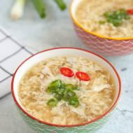 Chiński rosołek jajeczny. Możesz zrobić go na bazie tradycyjnego rosołu. PRZEPIS