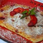 Omlet z truskawkami i otrębami