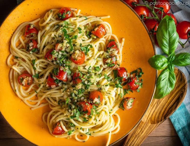 Pasta di Positano - makaron (prawie) bez gotowania