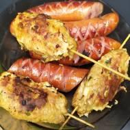 Kebabczeta – grillowane kotlety wieprzowe z miętą na patyczkach
