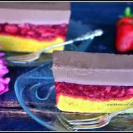 Trzykolorowe ciasto