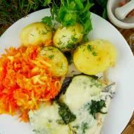 Ryba pieczona ze szpinakiem i mozzarellą