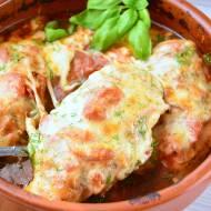 Balsamiczne pieczone filety z kurczaka z serem mozzarella