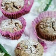 Bezglutenowe muffinki z rabarbarem