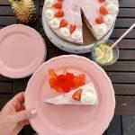 Jogurtowy sernik na zimno z truskawkami