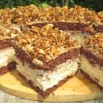 Ciasto Tortowe Cappuccino z prażonymi orzechami-łatwe, pyszne HIT +FILM