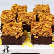 Ciasto czekoladowe z chrupiącym karmelem (bez glutenu, wegańskie)