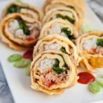 Rolsy sushi jajeczne. Świetna przekąska, która pierwsza znika na imprezach. PRZEPIS