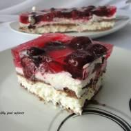 Ciasto bez pieczenia z galaretką i owocami