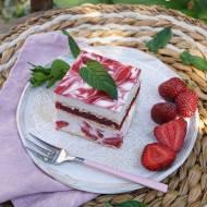 Ciasto truskawkowa kostka bez pieczenia