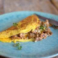 Omlet francuski, omlet francuski z kurkami