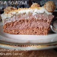 Tort orzechowo - czekoladowy z gruszkowym akcentem i pralinkami Giotto