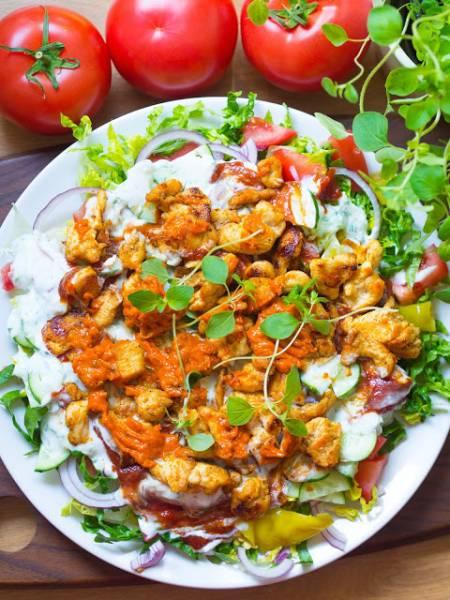 Domowy kebab na talerzu - fit, dietetyczny, zdrowy