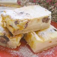 sernik pieczony bez tłuszczu z kulkami wafelkowymi w czekoladzie...