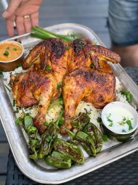 Kurczak w indyjskiej marynacie z grilla