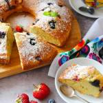 Szybkie ciasto z owocami (na oliwie)
