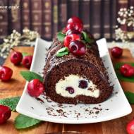 Rolada czekoladowa z czereśniami