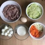 Siekane kotlety drobiowe z warzywami