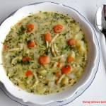Zupa koperkowa z ziemniakami i kalarepką