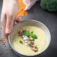 Zupa krem z brokuła i czerwonej soczewicy