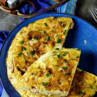 Tortilla de patatas z kiełbasą