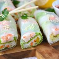 Spring rolls z krewetkami. Niesamowite sosy do maczania sajgonek.