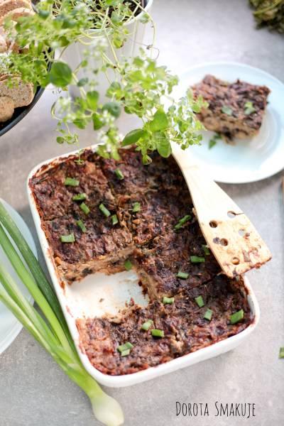 Zapiekanka chlebowa z pieczarkami jak lazania