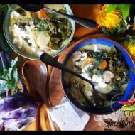 Zupa z liści kalarepy