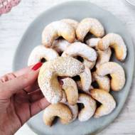 Kruche ciasteczka maślane (rożki waniliowe)