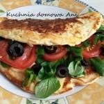 Placek owsiany z serem i warzywami