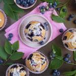 Puszyste muffinki  z borówkami amerykańskimi