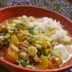 kurczak z rosołu z warzywami z ryżem...