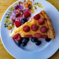 Tarta z malinami i mascarpone