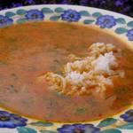 ze świeżych pomidorów pomidorowa z ryżem na rosole...