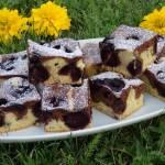 Dwukolorowe ciasto na maślance