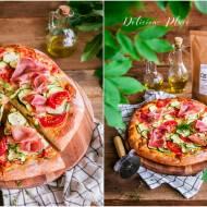Pizza z cukinią i szynką parmeńską
