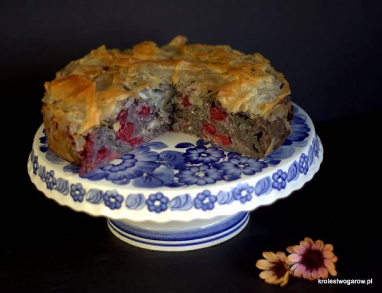 Ciasto z serem i wiśniami