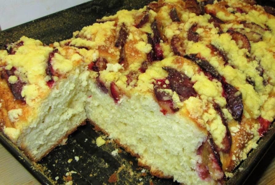 Najłatwiejsze ciasto drożdżowe ze śliwkami i kruszonką-bez wyrabiania+FILM